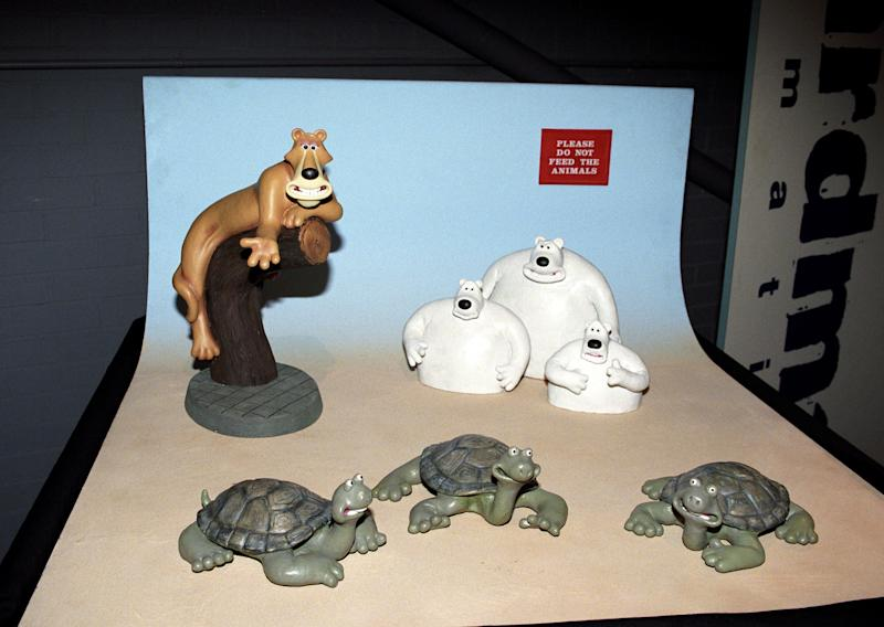 Plastincine models used by Aardman Animation to create the short film Creature Comforts.