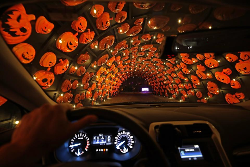 The Haunt 'O Ween LA drive-through Halloween experience in Woodland Hills.