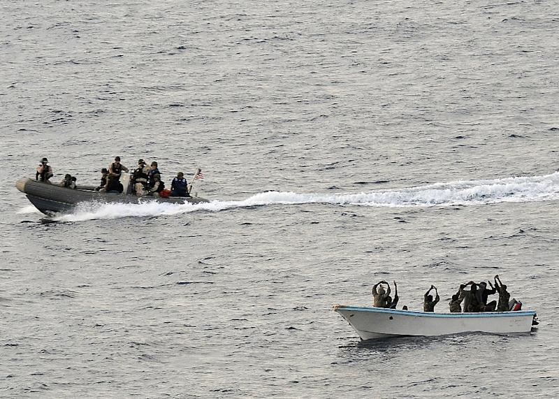 The US, UN and EU intervened in 2012 after piracy cost the global economy $5.7 - 6.1 billion (AFP Photo/Jason R. ZALASKY)