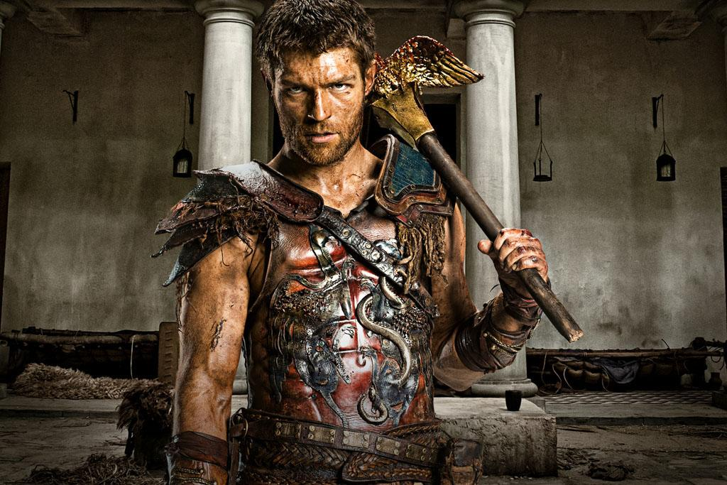 "Liam McIntyre as Spartacus in ""Spartacus: War of the Damned"" on Starz."