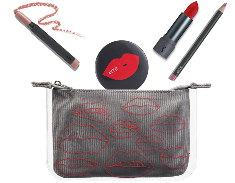 """<p>Black Friday is like the gift that keeps on giving, and Bite Beauty is joining the party with 20% off site-wide, free shipping, <em>and</em> a free 5-piece kit with any $35 purchase (promo code: """"FRIDAY5""""). The set includes a makeup bag, mirror, lip pencil, matte lip crayon, and lipstick.</p><p>On Cyber Monday, the 20% discount will stay the same, but the gift will be a 4-piece set that includes the makeup bag, mirror, and two lipsticks.</p>"""