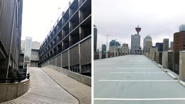 The parkade also includes bicycle and electric vehicle parking, and offers some scenic views of the area.