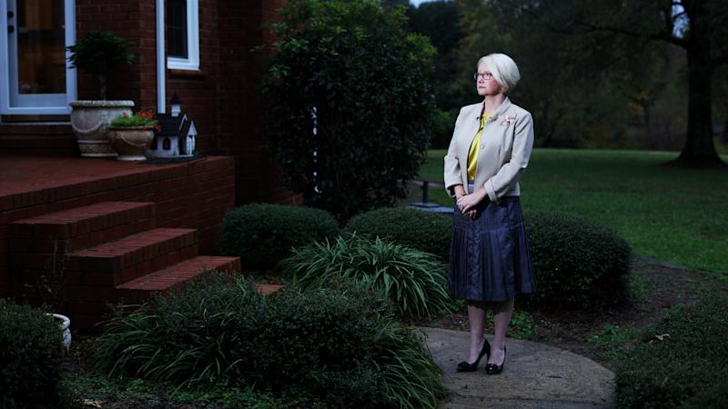 Karen Ward outside her home in Waxhaw, North Carolina. She is suing major consulting company Ernst and Young for sexual discrimination.