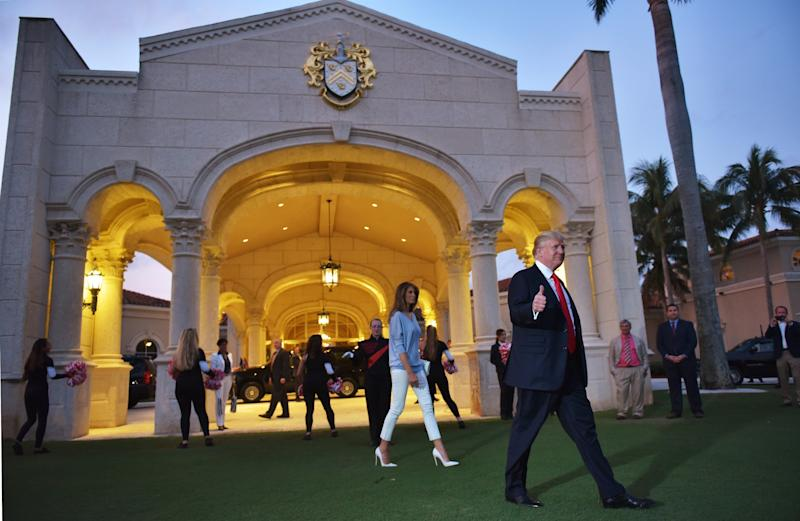 President Donald Trump is seen at the Trump International Golf Club Palm Beach in West Palm Beach, Florida, last year.