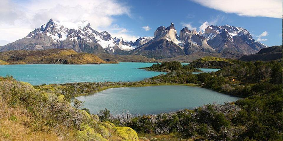 """<p>It's all about rugged beauty and eco-friendly adventures at <a href=""""https://www.tripadvisor.com/Attraction_Review-g297400-d314634-Reviews-Torres_del_Paine_National_Park-Puerto_Natales_Magallanes_Region.html"""" rel=""""nofollow noopener"""" target=""""_blank"""" data-ylk=""""slk:Torres del Paine National Park"""" class=""""link rapid-noclick-resp"""">Torres del Paine National Park</a> on the Chilean side of <a href=""""https://www.bestproducts.com/fun-things-to-do/g19829675/volunteer-vacations-trips/"""" rel=""""nofollow noopener"""" target=""""_blank"""" data-ylk=""""slk:Patagonia"""" class=""""link rapid-noclick-resp"""">Patagonia</a> (an incredibly scenic and remote mountainous region shared by Chile and Argentina). You can take in the park's natural beauty any number of ways, including horseback riding through the <em>pampas</em> (grasslands), hiking beside expansive glaciers, and taking a Zodiac boat tour. </p>"""