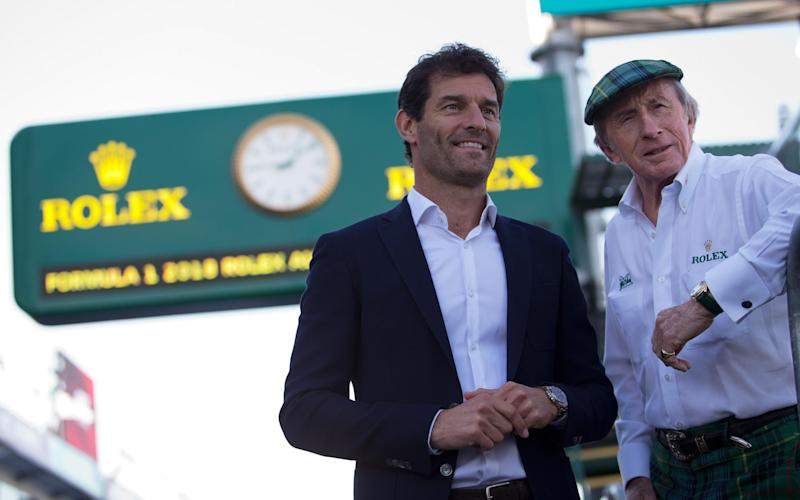 Mark Webber and Jackie Stewart - Rolex/James Moy