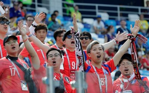 south korean fans - Credit: ap