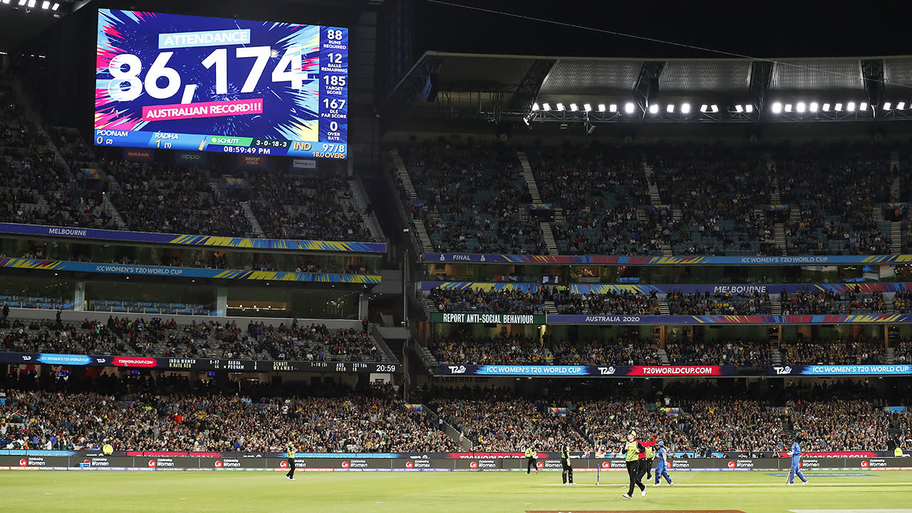 Over 86,000 fans attended the ICC Women's T20 Cricket World Cup final in March. (Photo by Ryan Pierse/Getty Images)