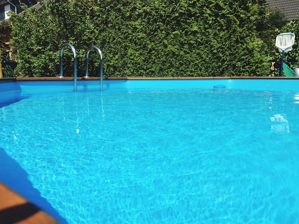 """<p>If you have an outdoor pool, then you know it takes thousands of gallons to fill. If it's not covered, evaporation can cause <a href=""""https://www.nationalgeographic.com/environment/article/water-conservation-tips"""" class=""""link rapid-noclick-resp"""" rel=""""nofollow noopener"""" target=""""_blank"""" data-ylk=""""slk:hundreds of gallons of water per month"""">hundreds of gallons of water per month</a> to be lost!</p>"""