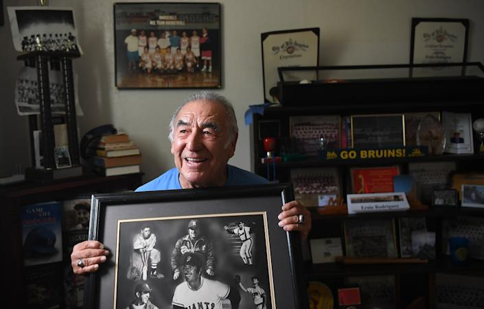 """A lot of people couldn't get to Wrigley Field or Gilmore Stadium. So the Sunday leagues became very big in the Boyle Heights community,"" Ernie Rodriguez said. <span class=""copyright"">(Wally Skalij / Los Angeles Times)</span>"
