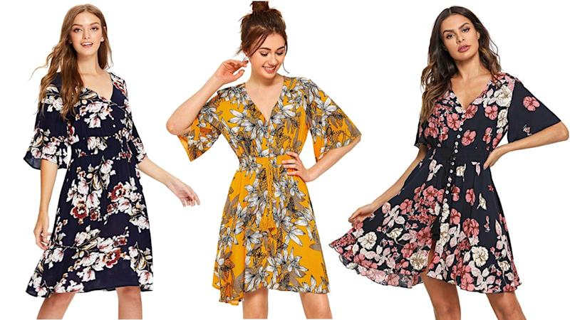 The Milumia dress adds flair to different prints with its button-up style. (Photo: Amazon)