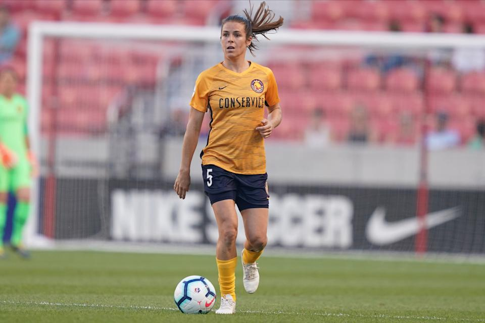 Kelley O'Hara is one of several high-profile players on a new team this NWSL season. (Photo by Daniela Porcelli/Getty Images)