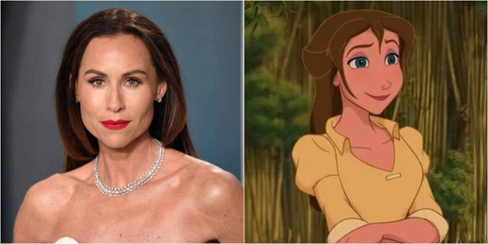 """<p>The <em>Good Will Hunting</em> actress voiced Tarzan's love interest Jane. While she was the OG voice of the character, she wasn't involved in any of the sequels or <a href=""""https://www.imdb.com/title/tt0283754/"""" rel=""""nofollow noopener"""" target=""""_blank"""" data-ylk=""""slk:spin-offs"""" class=""""link rapid-noclick-resp"""">spin-offs</a>.</p>"""