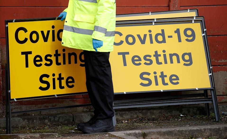 A Covid testing site (REUTERS)