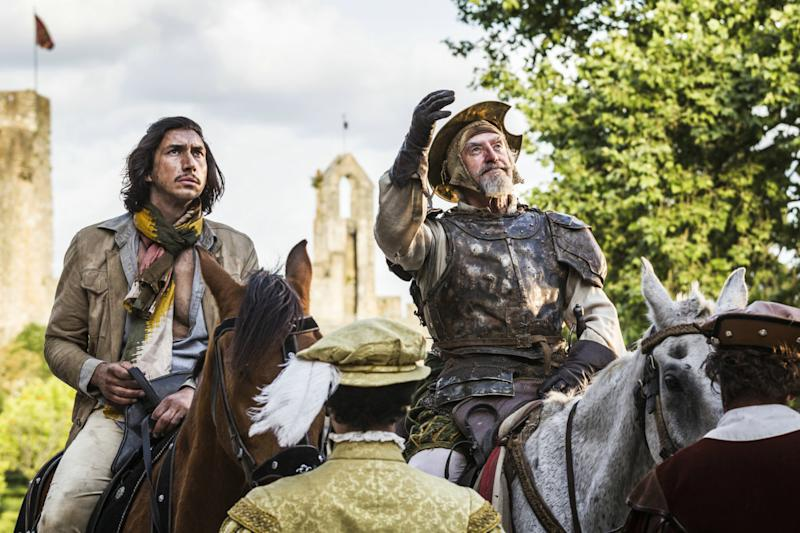 Adam Driver and Jonathan Pryce in <i>The Man Who Killed Don Quixote</i> (Sparky Pictures)