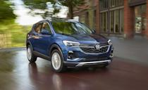 """<p>Buick's newest crossover, the <a href=""""https://www.caranddriver.com/buick/encore-gx"""" rel=""""nofollow noopener"""" target=""""_blank"""" data-ylk=""""slk:Encore GX"""" class=""""link rapid-noclick-resp"""">Encore GX</a>, is the most affordable entry of this segment by $2000. It's spacious and attractive but comes up short on the luxury side of the ledger. It's the only one on the list with standard cloth seats. It has a smooth ride but we found its 138-hp and 155-hp three-cylinder powertrains to be sluggish. The Lexus UX, Volvo XC40, BMW X1, and others deliver better highway fuel economy with more horsepower. When we tested the Encore GX, it took 7.0 seconds to go from 50 to 70 mph. Still awake? Good, because despite its lack of excitement, the Encore GX's cargo space, adjustable load floor, and a fold-flat passenger seat make it a surprisingly useful commuter. </p><ul><li>Base price: $25,395</li><li>EPA Fuel Economy combined/city/highway: 30/29/31 mpg (FWD)</li><li>Rear cargo space: 23 cubic feet</li></ul><p><a class=""""link rapid-noclick-resp"""" href=""""https://www.caranddriver.com/buick/encore-gx/specs"""" rel=""""nofollow noopener"""" target=""""_blank"""" data-ylk=""""slk:MORE ENCORE GX"""">MORE ENCORE GX</a></p>"""