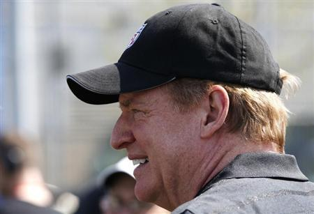 NFL Commissioner Goodell takes part in an NFL Play 60 Youth Football Clinic in New York City