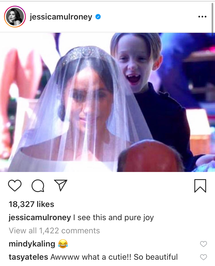Jessica Mulroney put this photo on Instagram and said it was pure joy. (Instagram)