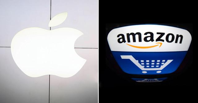 Apple and Amazon will both report earnings on Thursday.