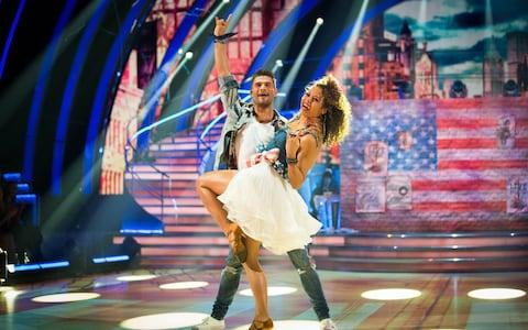 Aljaz Skorjanec and Emma Weymouth during the BBC1 dance contest, Strictly Come Dancing - Credit: Guy Levy/BBC