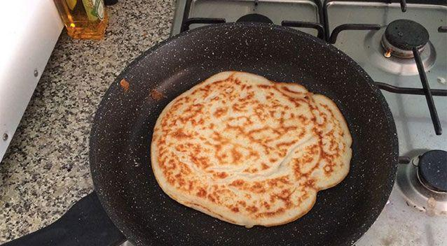 The 35-year-old attempted potato pancakes for the first time yesterday. Source:
