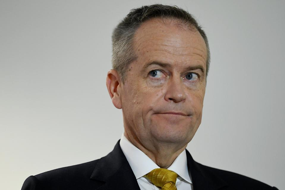 Australian Opposition Leader Bill Shorten speaks to the media at the University of Tasmania ahead of the 2019 federal election.