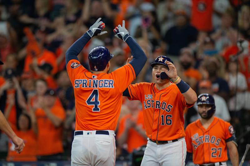 The Astros clinched the AL West title on Sunday. (Photo by Juan DeLeon/Icon Sportswire via Getty Images)