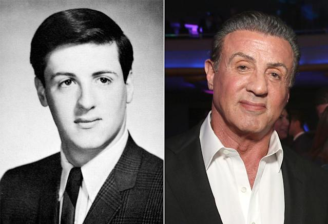 <p>Sylvester Stallone hardly looked like a man ready to be Rocky (or a participant in <i>Vol. 2</i>'s interstellar adventure) in his clean-cut 1965 senior photo at Devereaux-Manor Hall School in Devon, Pa.<br>(Photo: Seth Poppel/Yearbook Library/Getty Images) </p>