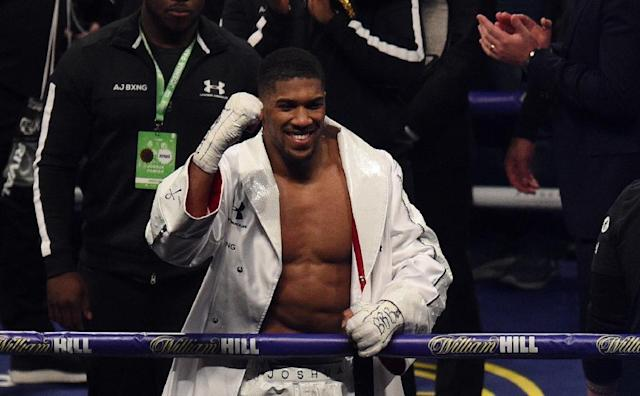 Anthony Joshua of Great Britain is focused on Alexander Povetkin (AFP Photo/Oli SCARFF )