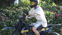 Justin Bieber Matches His Rare Nike Sneakers to His Customized Motorcycle