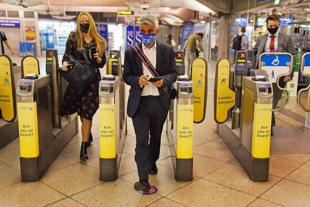 Mayor of London Sadiq Khan wants mask wearing on the capital's transport network to continue after July 19