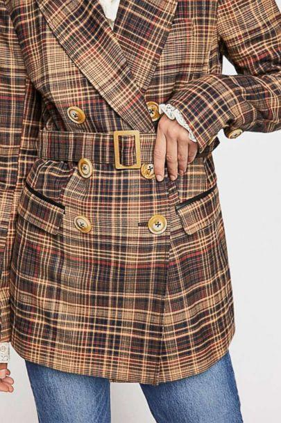 PHOTO: Style Hint: If you buy one thing to update your fall wardrobe, make it a plaid blazer. We like this one because its soft cotton fabric isn't itchy and it comes with a wide belt that lets you style it like a trench. (Free People)