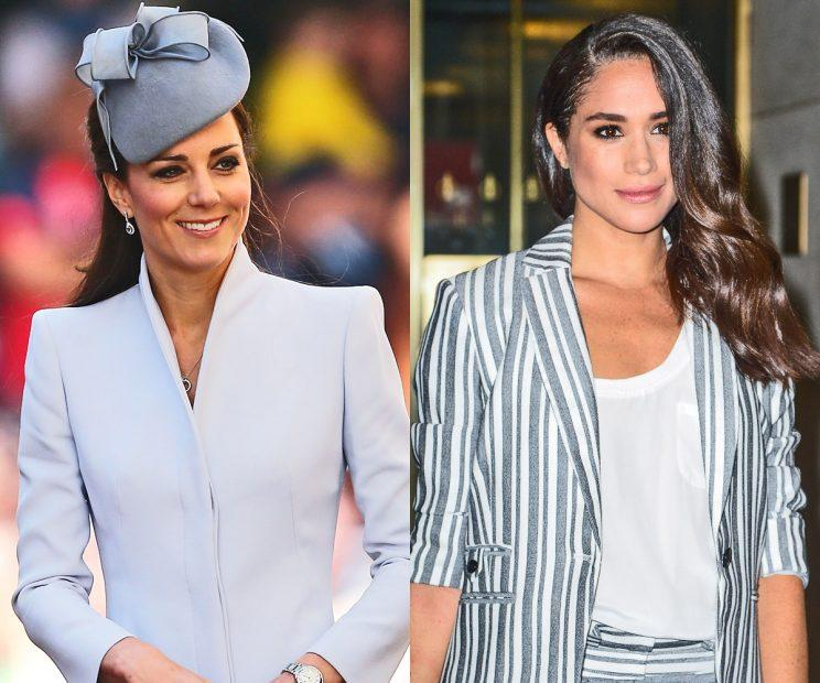 Kate Middleton and Meghan Markle share a fondness for a coat designer. (Photo: Getty)