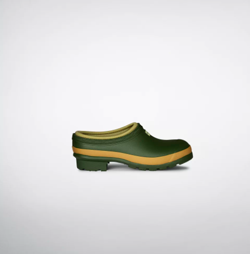 "<h2>Hunter Gardener Clogs</h2><br>We know this British heritage brand for its oh-so-English knee-high galoshes, but upon probing their inventory we discovered a low-heeled rubber clog that will look smashing as you walk the grounds of your Cotswolds estate.<br><br><strong>Hunter</strong> Gardener Clogs, $, available at <a href=""https://go.skimresources.com/?id=30283X879131&url=https%3A%2F%2Fwww.hunterboots.com%2Fus%2Fen_us%2Fwomens-loafers-clogs%2Fwomens-gardener-clogs%2Fgreen%2F1411"" rel=""nofollow noopener"" target=""_blank"" data-ylk=""slk:Hunter"" class=""link rapid-noclick-resp"">Hunter</a>"