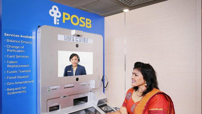 Singapore DBS/POSB bank launches video teller machines in 9 locations