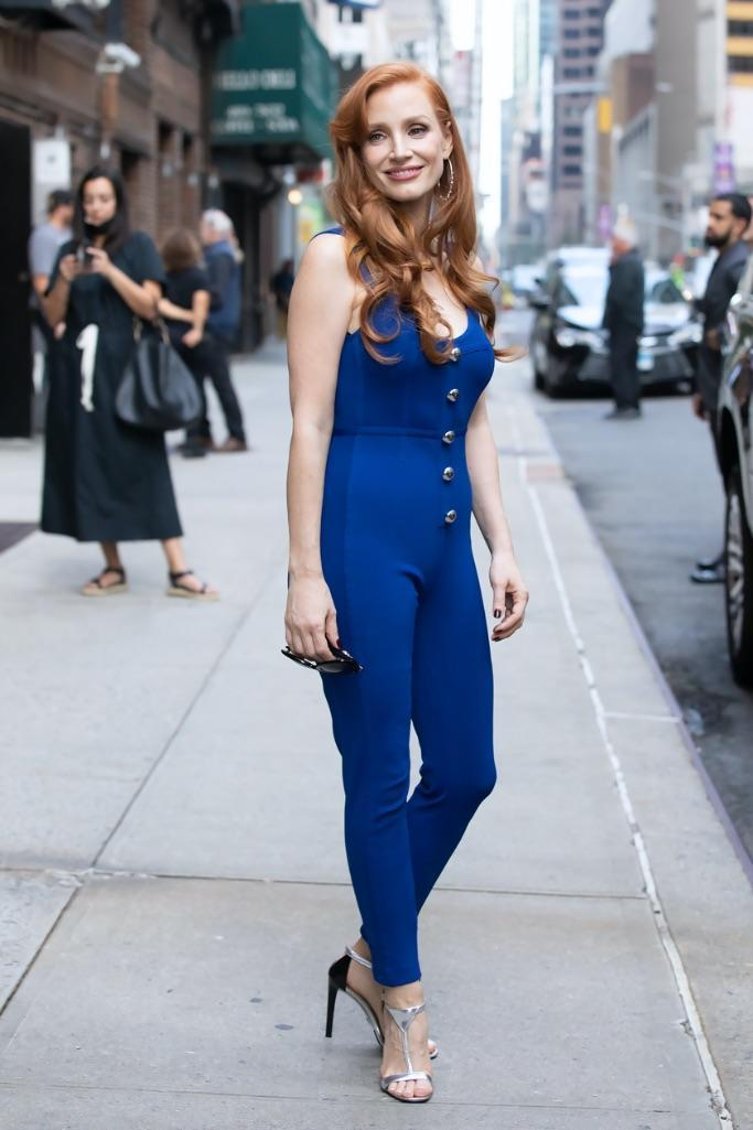 Jessica Chastain in NYC. - Credit: RCF / MEGA
