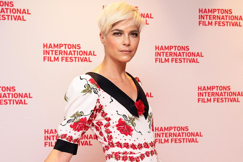 """<p>Also at the Hamptons International Film Festival: Selma Blair looks stunning ahead of debuting her documentary, <a href=""""https://people.com/movies/selma-blair-documentary-trailer-follows-actress-ms-diagnosis/"""" rel=""""nofollow noopener"""" target=""""_blank"""" data-ylk=""""slk:Introducing, Selma Blair"""" class=""""link rapid-noclick-resp""""><em>Introducing, Selma Blair</em></a>.</p>"""
