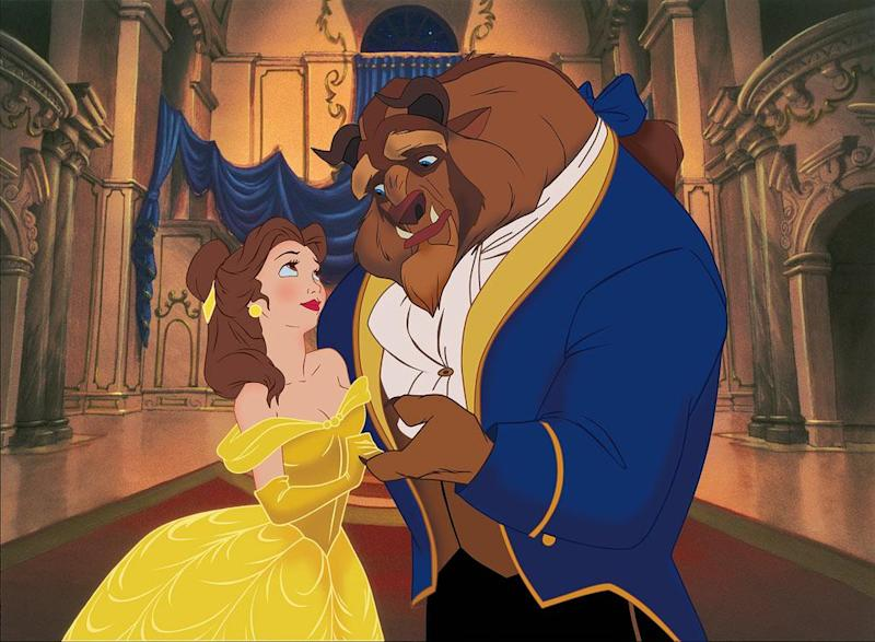 Belle and the Beast in Disney's 1991 Beauty and the Beast