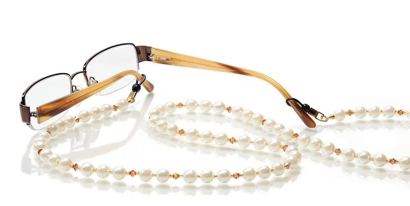 This 2010 publicity product photo provided by Jo-Ann Stores shows a Fancy Pearl Eyeglass Strand inspiration from Jo-Ann Stores. (AP Photo/Jo-Ann Stores)