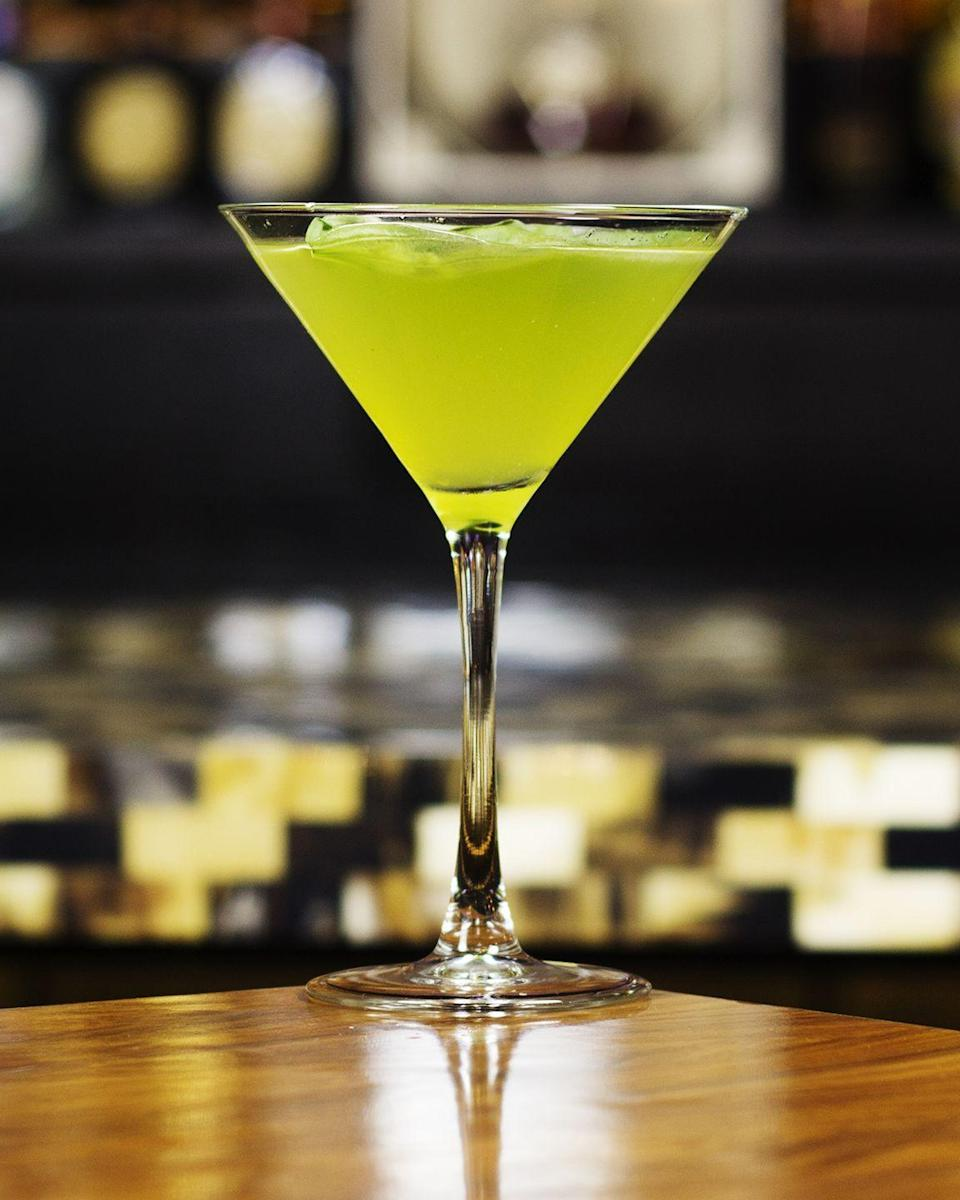 """<p><strong>Ingredients</strong></p><p>2.5 oz Absolut Elyx vodka<br>.5 oz simple syrup<br>.5 oz lime juice<br>4 basil leaves<br>1 slice jalapeno</p><p><strong>Instructions</strong></p><p>Place all ingredients into a shaker, then shake and strain into a freshly chilled martini glass. Garnish with thin slice of jalapeno.</p><p><em>From <a href=""""http://stkhouse.com/"""" rel=""""nofollow noopener"""" target=""""_blank"""" data-ylk=""""slk:STK"""" class=""""link rapid-noclick-resp"""">STK</a>, multiple locations</em></p>"""