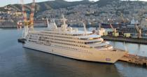 """<p><em>Fulk Al Samanah</em> was assembled by Mariotti in Genoa, Italy, and is the world's second-largest superyacht. It is believed to belong to the Omani Royal Fleet. Notable amenities include a beauty salon, beach club, and conference facilities, and it requires 130 crew members for optimal ventures. Little information about the <em>Fulk Al Samanah</em> is known, but the boat's exterior was designed by <a href=""""http://www.dejoriodesign.it/"""" rel=""""nofollow noopener"""" target=""""_blank"""" data-ylk=""""slk:Studio de Jorio."""" class=""""link rapid-noclick-resp"""">Studio de Jorio.</a></p>"""