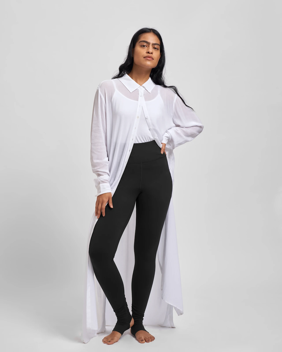"""<h3>Stirrup Leggings</h3><br>This grade-school staple is making a 2019 comeback. We're excited to pair this foot-hugging detail with block heels and mules instead of socks and Keds (not that there's anything wrong with the latter).<br><br><strong>Universal Standard</strong> Ronda Stirrup Legging, $, available at <a href=""""https://go.skimresources.com/?id=30283X879131&url=https%3A%2F%2Fwww.universalstandard.com%2Fproducts%2Fronda-stirrup-legging-black"""" rel=""""nofollow noopener"""" target=""""_blank"""" data-ylk=""""slk:Universal Standard"""" class=""""link rapid-noclick-resp"""">Universal Standard</a>"""