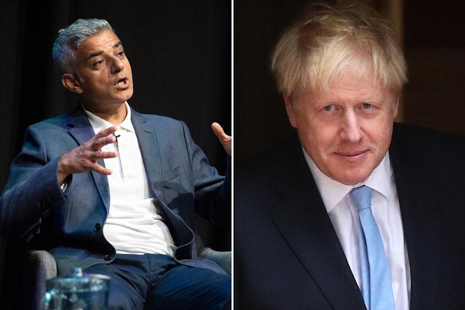 <p>London Mayor Sadiq Khan has been blamed by Boris Johnson</p> (PA)