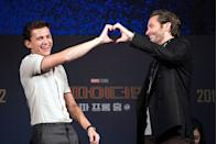 <p>Tom Holland and Jake Gyllenhaal attend 'Fan Fest'; the fan-meeting event of <em>Spider-Man: Far From Home</em> on June 30, 2019 in Seoul, South Korea.</p>