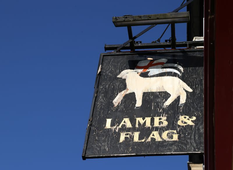 The Lamb and Flag is seen as the Grade-II listed pub is forced to close, after more than 400 years of business, following outbreak of the coronavirus disease