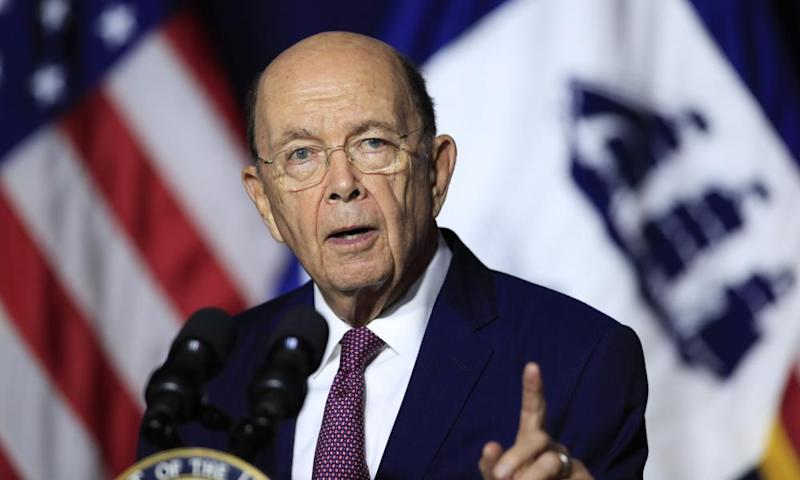 Wilbur Ross, the 81-year-old commerce secretary who oversees the US Census Bureau.