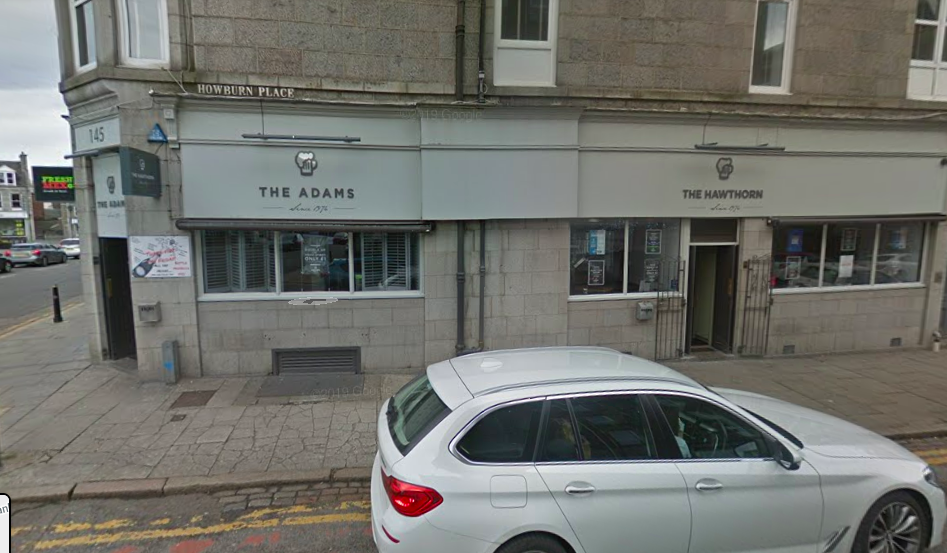31 cases were associated with The Hawthorn Bar in Holburn Street in Aberdeen centre. (Google Maps)