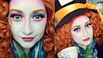 """<p>A fun and bold makeup look will take your Mad Hatter costume to the next level. </p><p><strong>Get the tutorial at <a href=""""https://www.youtube.com/watch?v=sBZb02wioPw"""" rel=""""nofollow noopener"""" target=""""_blank"""" data-ylk=""""slk:Jessica Rose"""" class=""""link rapid-noclick-resp"""">Jessica Rose</a>.</strong></p><p><a class=""""link rapid-noclick-resp"""" href=""""https://www.amazon.com/Yuehong-Halloween-Costumes-Synthetic-Cosplay/dp/B01G38IYW8/ref=sr_1_7?tag=syn-yahoo-20&ascsubtag=%5Bartid%7C10050.g.29343502%5Bsrc%7Cyahoo-us"""" rel=""""nofollow noopener"""" target=""""_blank"""" data-ylk=""""slk:SHOP RED WIGS"""">SHOP RED WIGS</a></p>"""