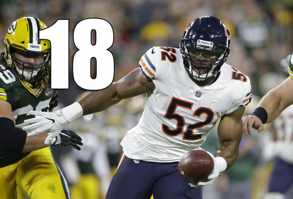 <p>This needs to be repeated: Khalil Mack was incredible on Sunday night. It'll be a ton of fun to watch him in that defense all season. (Khalil Mack) </p>