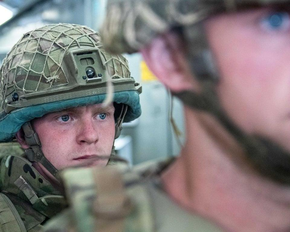Members of 16 Air Assault Brigade arriving in Kabul (Leading Hand Ben Shread/MoD/Crown Copyright/PA) (PA Media)